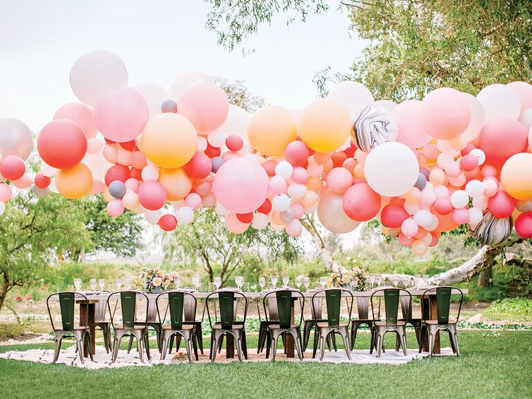 Balloon arch at wedding