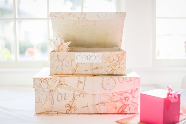 Blush Card Boxes with Nautical Design
