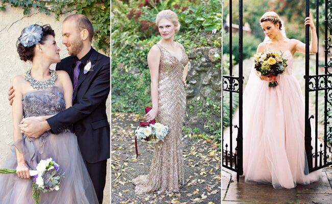 Celebrity Brides Who Wore Bold Colors on Their Wedding ...