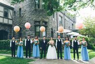 For their spring wedding at the Castle Hotel & Spa in Tarrytown, New York, Danlu and Eli pulled off a classic fete with shades of pale rose pink and t