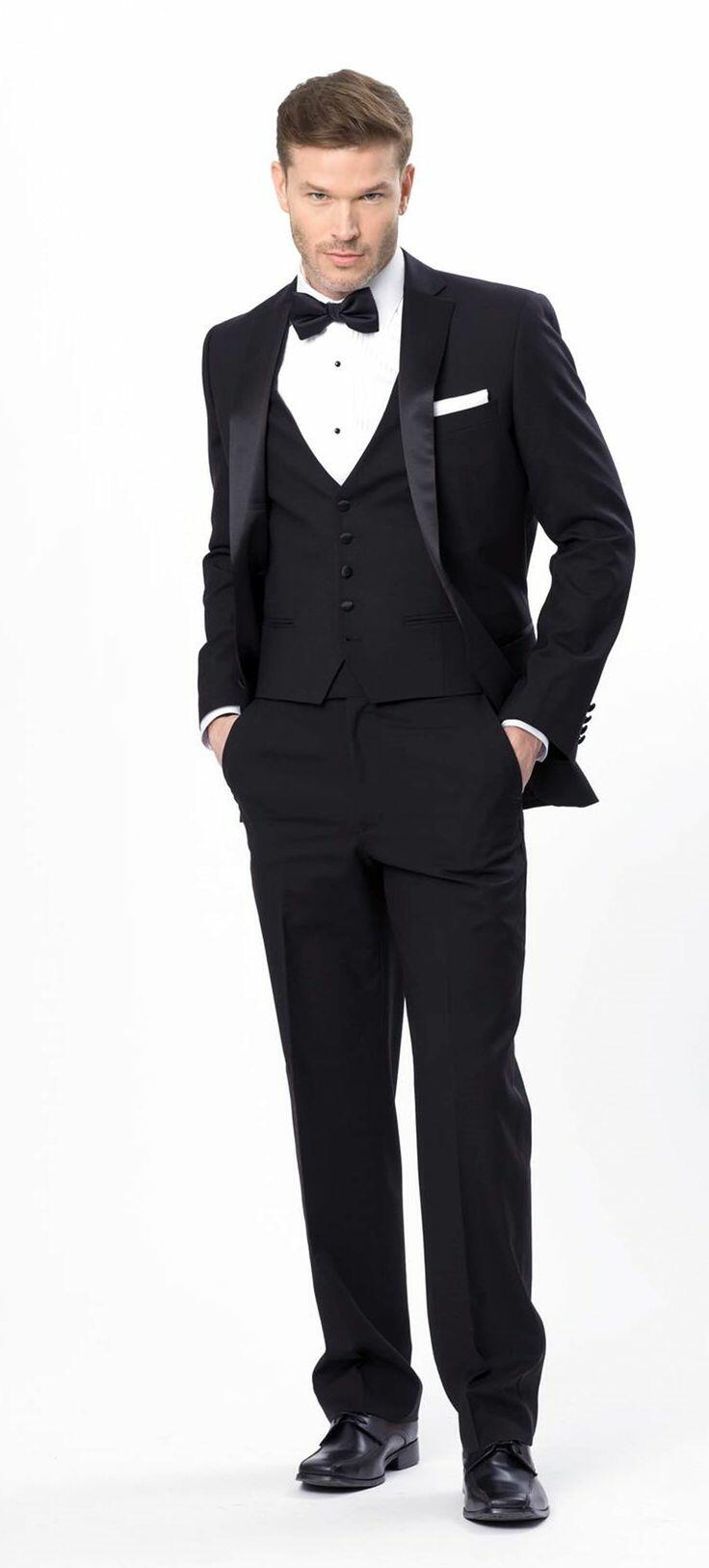 Justin Alexander Black Tux to rent from Xedo