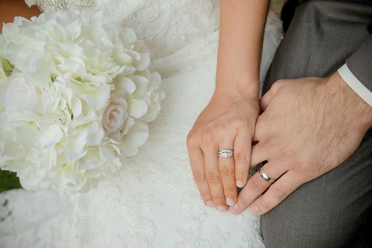 Ashleigh and Nathan's Classic Wedding Bands