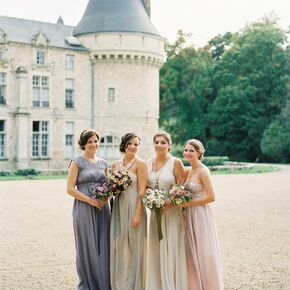 Palatial ceremony backdrop for Antique inspired wedding dresses