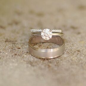 round diamond solitaire engagement ring - Rustic Wedding Rings