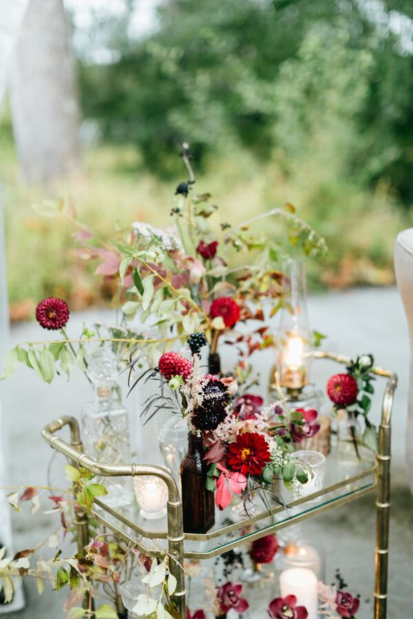 Burgundy Wedding Flower Arrangements