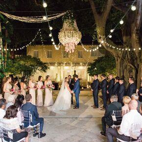 Garden weddings glam garden ceremony chandelier junglespirit Image collections