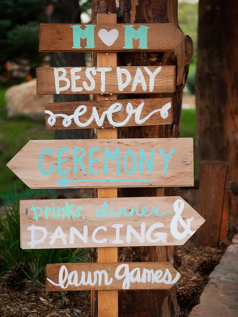 DIY wedding sign idea