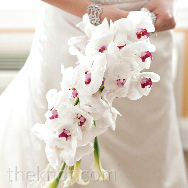 White Orchid Flower Bouquet White Orchid Bridal Bouquet