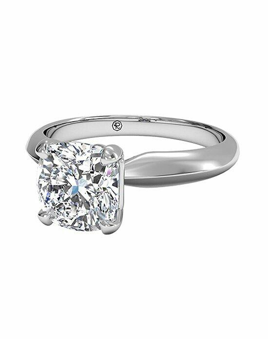 Ritani Cushion Cut Solitaire Diamond Knife-Edge Engagement Ring in Platinum Engagement Ring photo