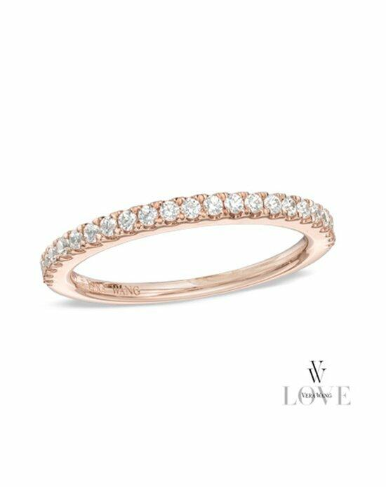 Vera Wang LOVE at Zales Vera Wang LOVE Collection 1/4 CT. T.W. Diamond Wedding Band in 14K Rose Gold  19836196 Wedding Ring photo