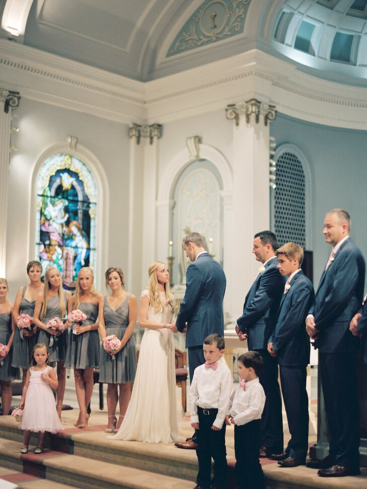 The couple had their traditional Catholic mass and ceremony at Saint Ursula Academy in Cincinnati, Ohio.