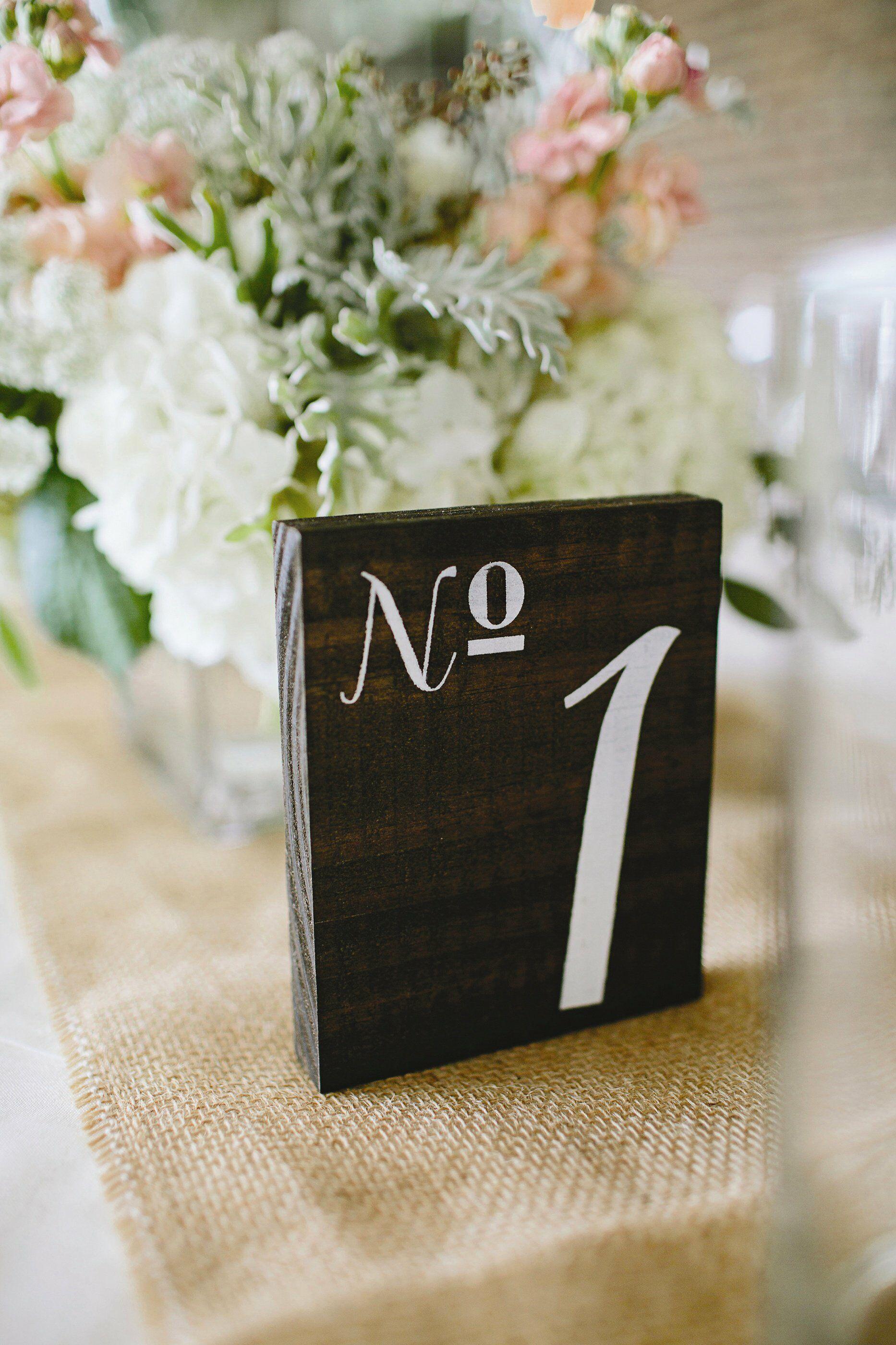 Wood Block Table Numbers