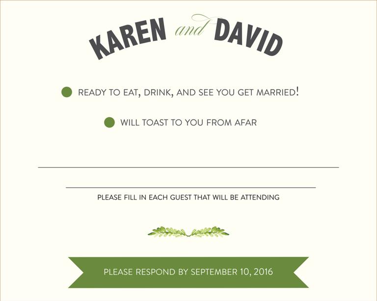Unique Wedding RSVP Wording