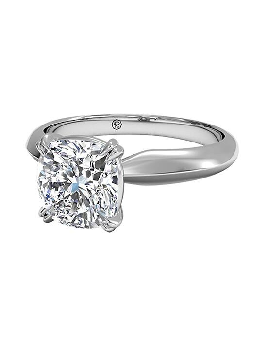Ritani Cushion Cut Solitaire Diamond Knife-Edge Tulip Engagement Ring in Platinum Engagement Ring photo