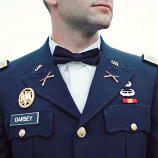 Real Military Men's Wedding Attire