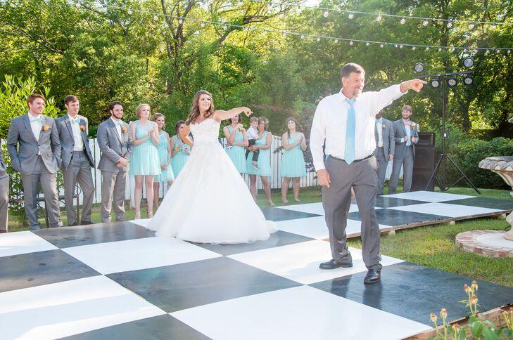 DIY Black-and-White Checkerboard Dance Floor