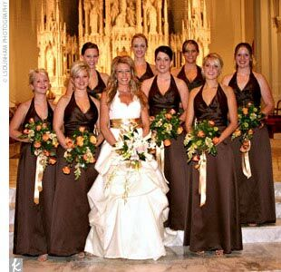 Brown Fall Bridesmaid Dresses The Bridesmaid Looks