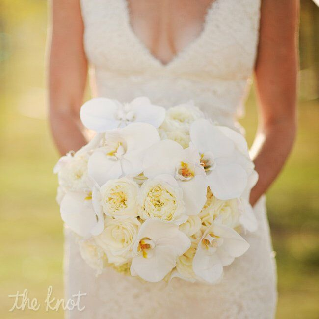 Wedding Bouquets Roses And Orchids : White orchid and rose bridal bouquet