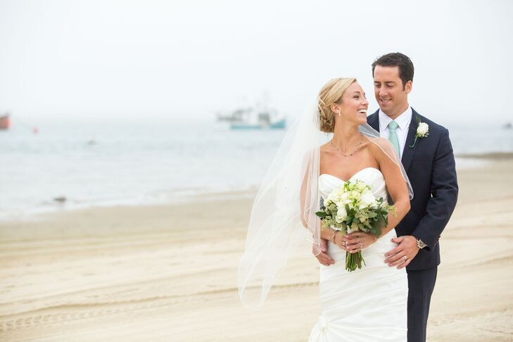 Alexandria Pearce (27 and a nurse) and Brennan Hill (27 and works in sales) planned a preppy, nautical affair for their wedding at Chatham Bars Inn in