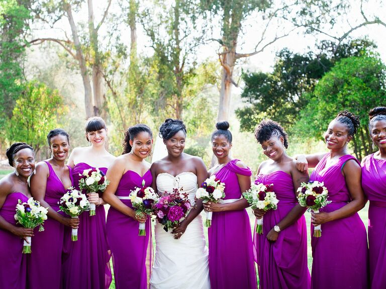 Real Purple Bridesmaid Dresses