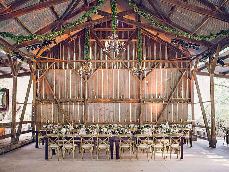 Low-key luxe wedding reception space