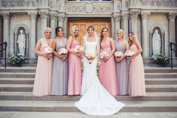 Purple And Pink Bridesmaid Dresses
