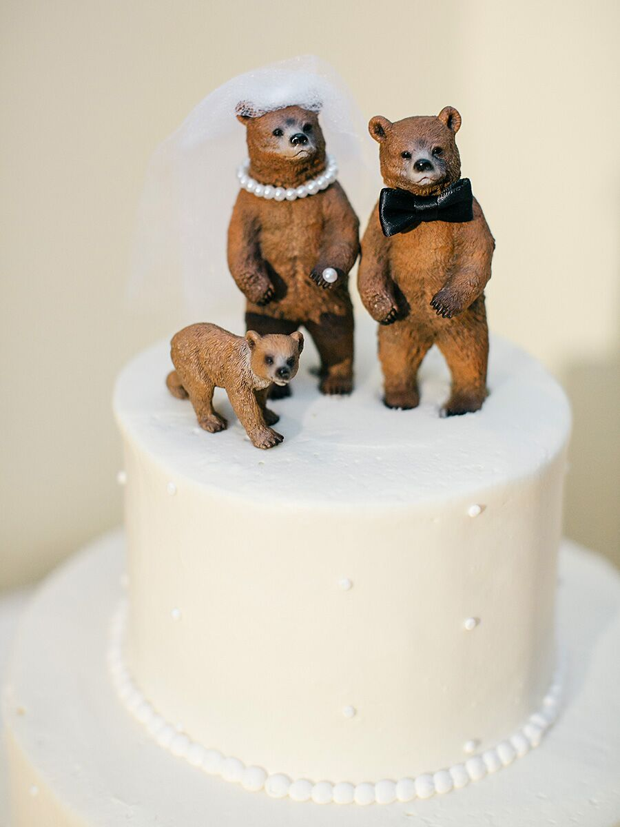 Funny Cake Toppers for the Minimalist and Lighthearted Couple