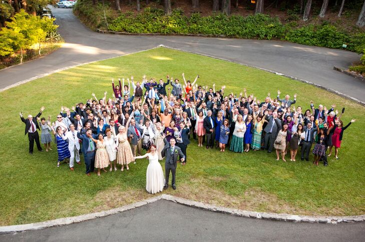 Ralston White Retreat Wedding Group Photo