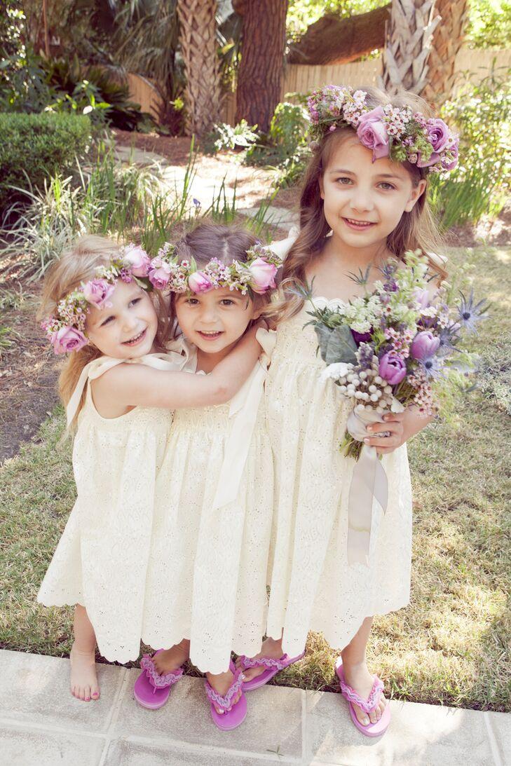 Purple flower girl flower crowns izmirmasajfo