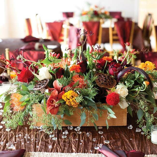 Floral Table Centerpiece Ideas: Floral Autumn Centerpieces