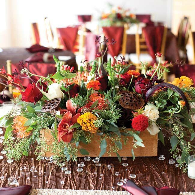 Floral Autumn Centerpieces