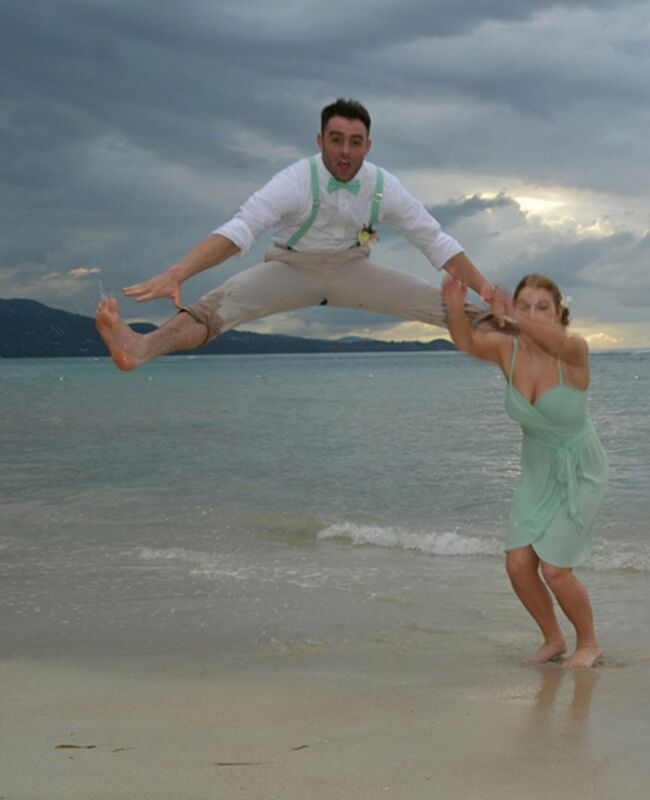 Toe Touch Wedding Picture Tyler Foster TheKnot