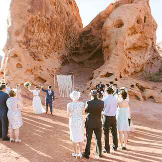 wedding at Valley of Fire Las Vegas, Nevada