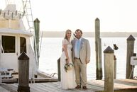 Jill Garry (30 and a merchandise planner for Saks Fifth Avenue) and Conor Sullivan's  (34 and a merchant mariner) wedding had an elegant nautical vibe