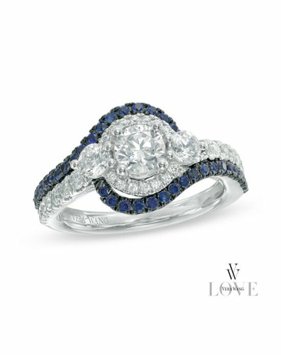 Vera Wang LOVE at Zales Vera Wang LOVE Collection 1 CT T W Oval Diamond Thr