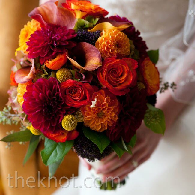 Wedding Flowers Lancaster Pa: Red And Orange Bridal Bouquet