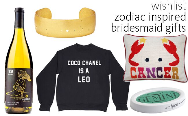 Zodiac Inspired Bridesmaid Gifts | blog.TheKnot.com