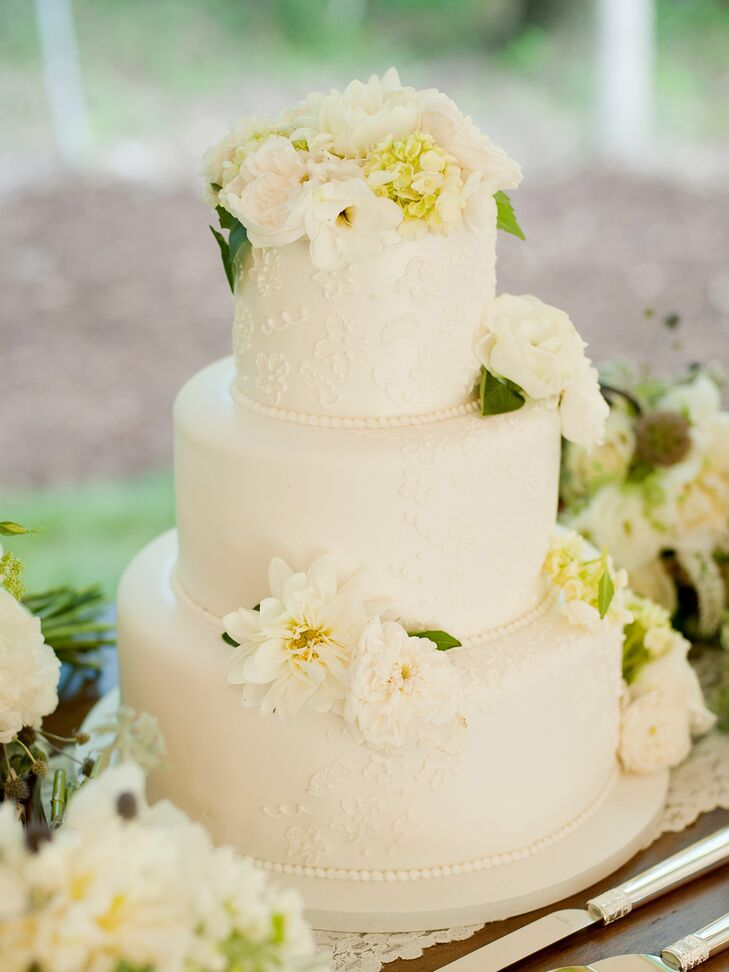 traditional white wedding cake traditional white wedding cake 21214