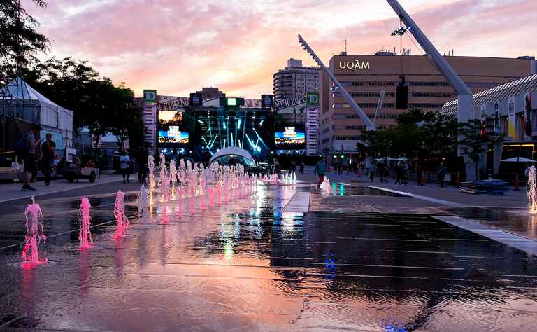 Quartier des Spectacles in Montreal