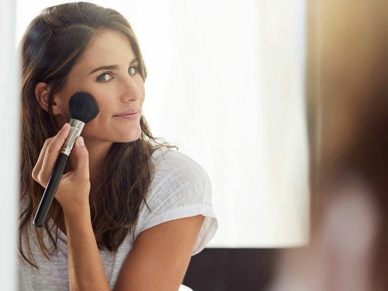 Wedding beauty makeup contouring