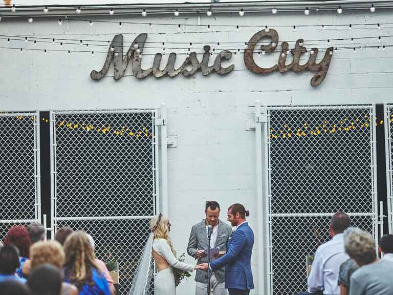 Wedding ceremony in tennessee