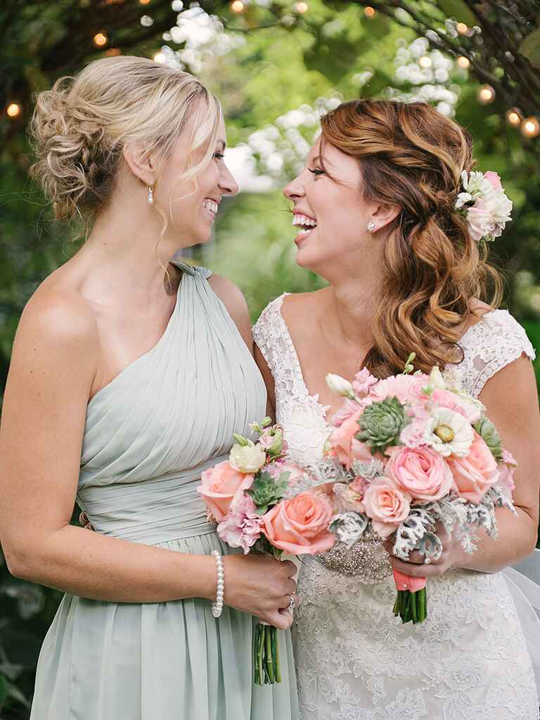 Loose messy updo hairstyle for brides or bridesmaids