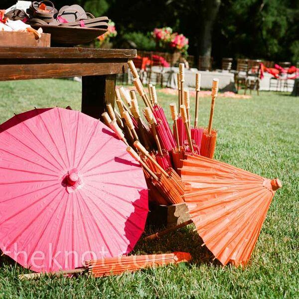 Pink And Orange Centerpieces