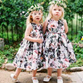 Dark Fl Flower Dresses