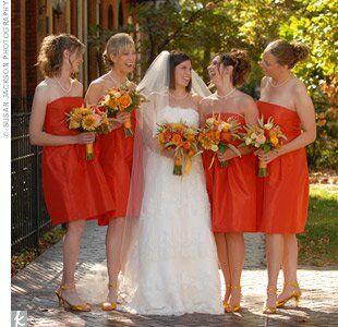 Persimmon Bridesmaid Dresses