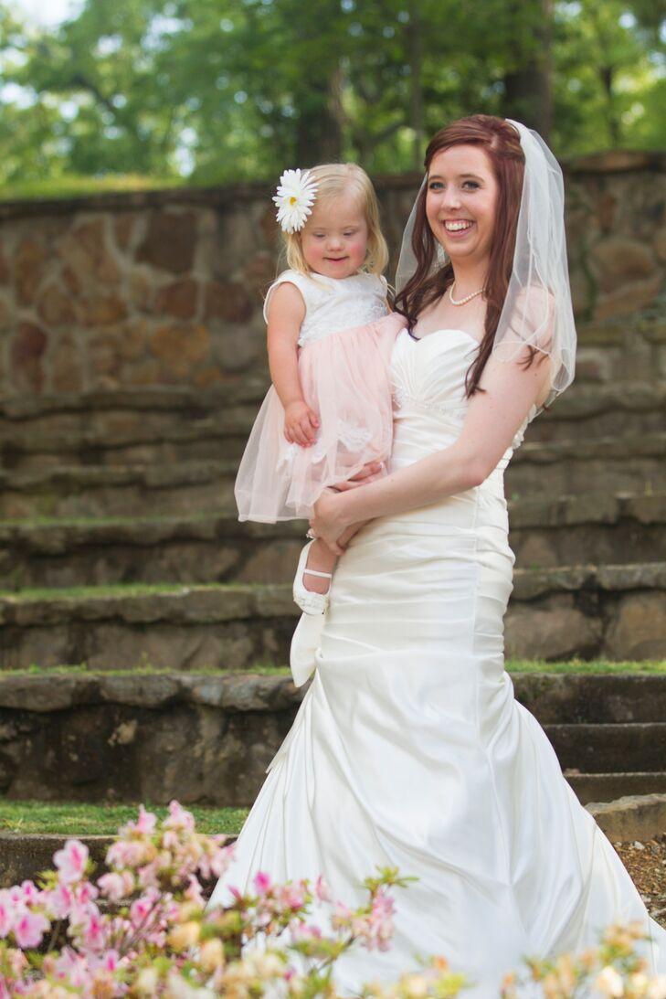 Pink And White Toddler Flower Girl Dress