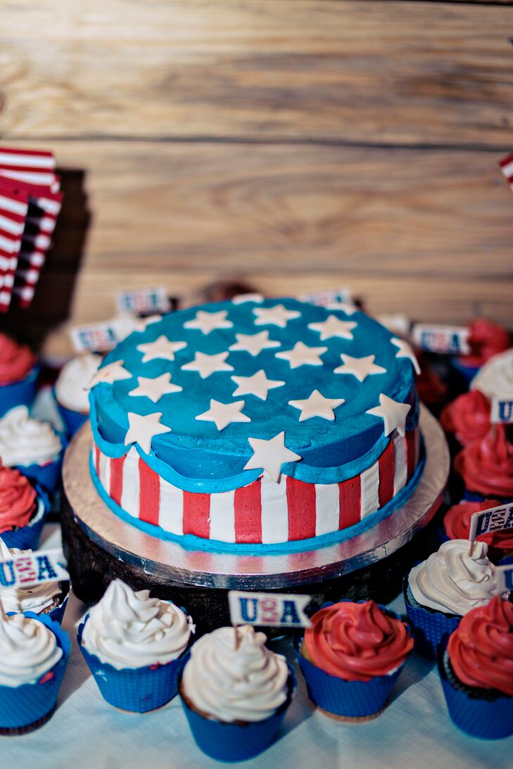 american flag wedding cake a patriotic rustic wedding at antique acres in bogart 10742
