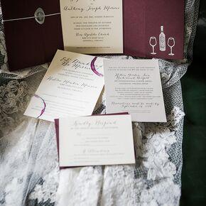 Wine Themed Wedding Invites