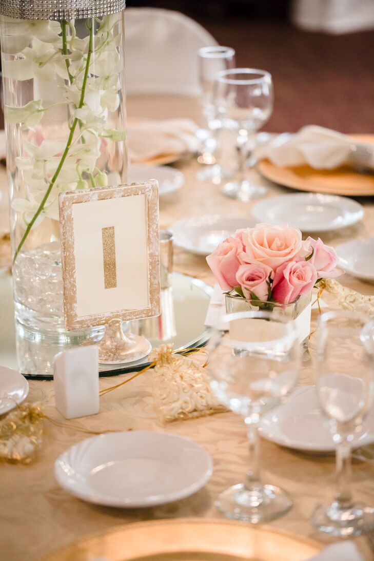 Table Number in Lace-Wrapped Frame