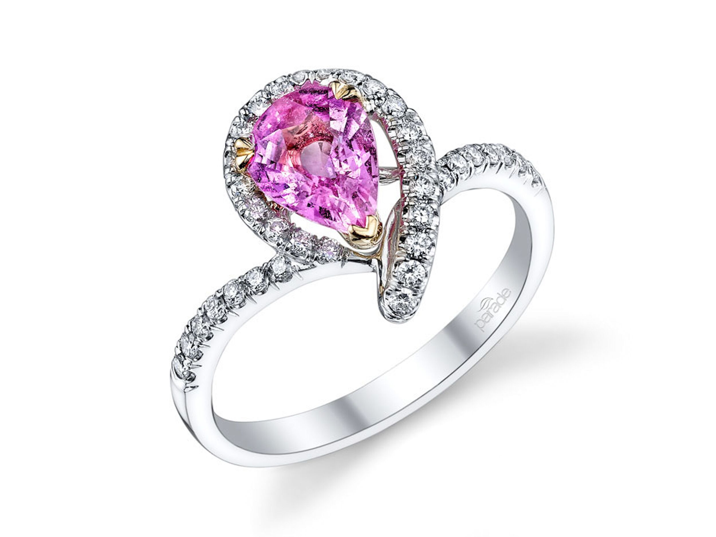 set and diamond in band engagement with pink product rose jewellery jewelry style kwiat radiant fancy ring halo rings gold
